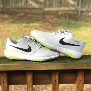 Nike Roshe Tour Golf Shoes Platinum / Volt Size 11